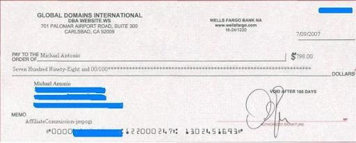 GDI美金支票圖片