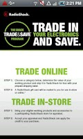Screenshot of RadioShack Trade & Save