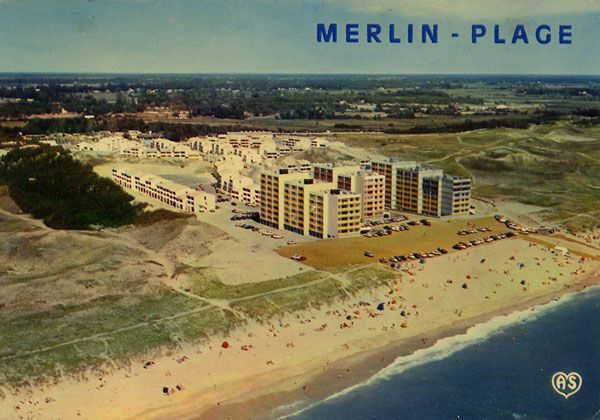 Cartes Postales Pop et  Kitsch des années 50, 70 et 70 - Pop and kitsch vintage postcards from the fifties, the sixties and the seventies : La Vendée touristique SAINT-JEAN-DE-MONTS, SAINT-HILAIRE-DE-RIETZ (Vendée - 85)MERLIN-PLAGE