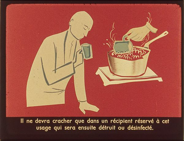 Films fixes et publicités de quartier (educational filmstrips) sur www.filmfix.fr : Conseils aux tuberculeux