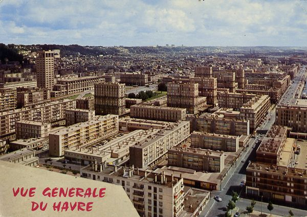 Cartes Postales Pop et  Kitsch des années 50, 70 et 70 - Pop and kitsch vintage postcards from the fifties, the sixties and the seventies : LE HAVRE Vue générale