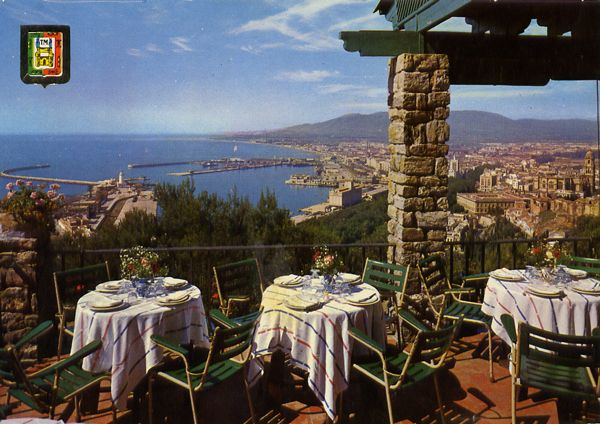 Cartes Postales Pop et  Kitsch des années 50, 70 et 70 - Pop and kitsch vintage postcards from the fifties, the sixties and the seventies : MALAGA Hosteria de Gibralfaro