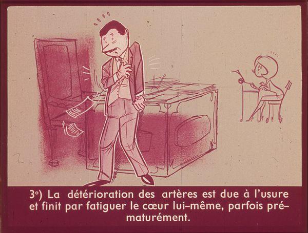 Films fixes et publicités de quartier (educational filmstrips) sur www.filmfix.fr : Protégez votre coeur