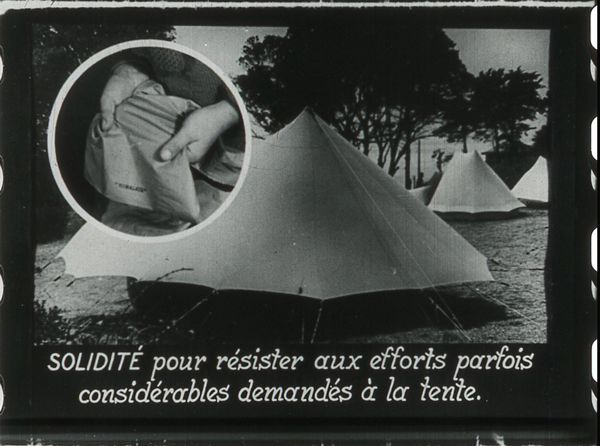 Films fixes et publicités de quartier (educational filmstrips) sur www.filmfix.fr : Le camping