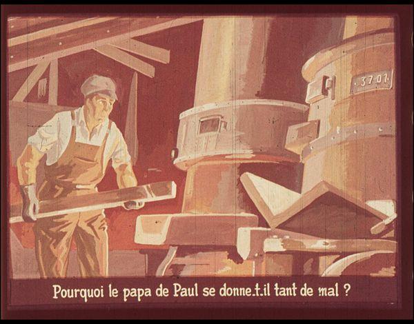 Films fixes et publicités de quartier (educational filmstrips) sur www.filmfix.fr : La miche de pain - Dieu est bon