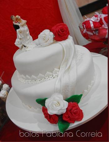 bolo casamento, cake wedding, rosas, roses red, pasta a mericana, bolos decorados, bolos fabiana correia maceió-al