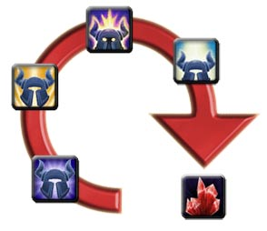 Buying epic gems with Emblems of Triumph