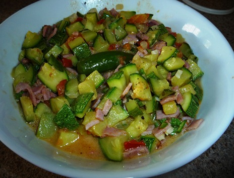 CALABACITAS CON JAMN