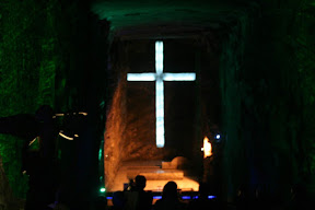 This is made from salt - Zipaquira Salt Cathedral
