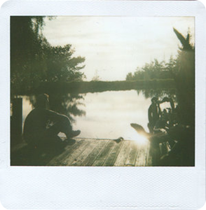 polaroid water man pier