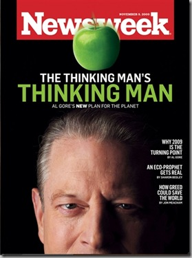 algore thinking man