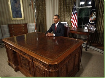 big desk little man