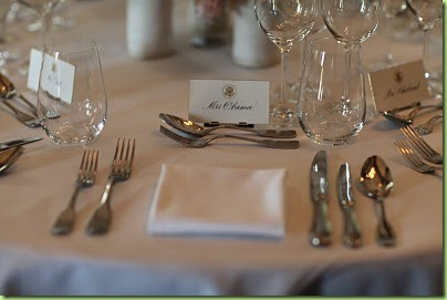 mrs obama's placesetting