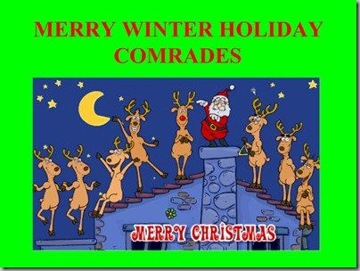 merry winter holiday comrades