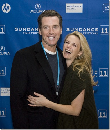 "Steve Griffin  |  The Salt Lake Tribune   Jennifer Newsom, director of ""Miss Representation"" with her husband California Lt. Gov. Gavin Newsom, as they attend the Sundance premeire of the movie at the Yarrow Hotel in Park City Saturday, January 22, 2011."