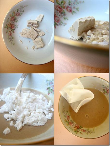 maschera restitutiva lievito miele e amido di  frumento