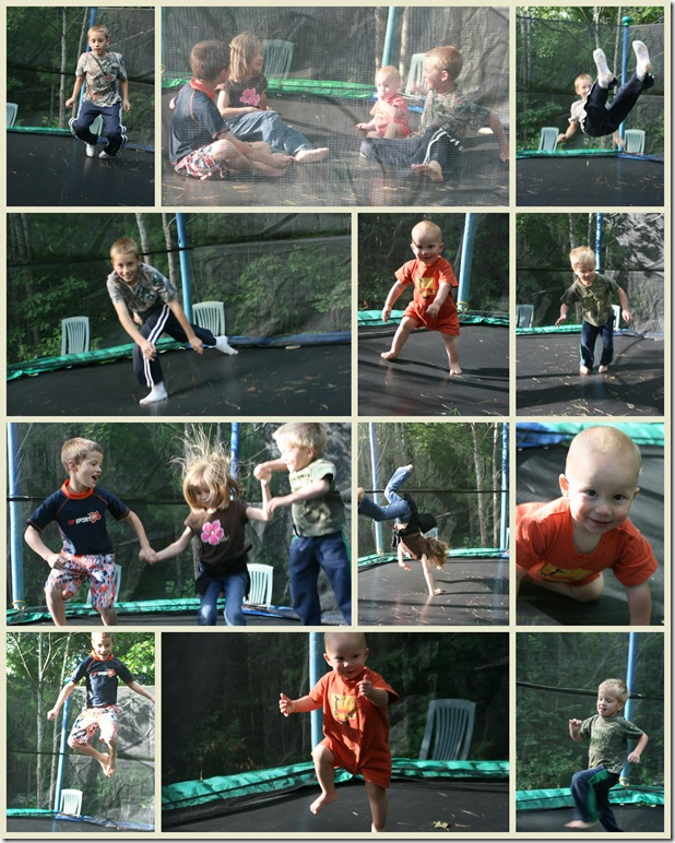 Trampoline collage