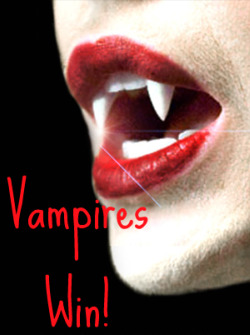 vamps win with shiny teeth