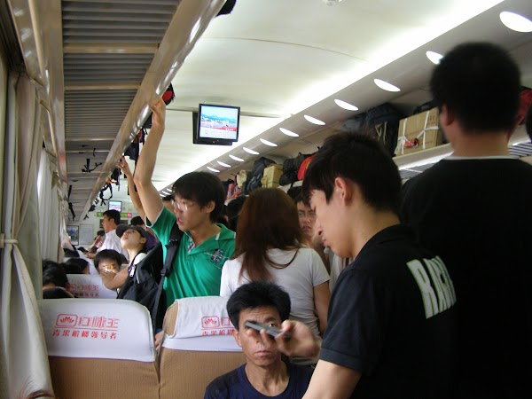 Imagini China: in tren Beijing - Guangzhou