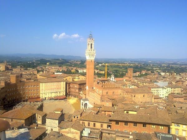 Obiective turistice Italia: PIAZZA DEL CAMPO DE SUS, Siena