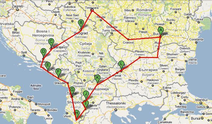 Descoperiti Balcanii: harta Balcanilor