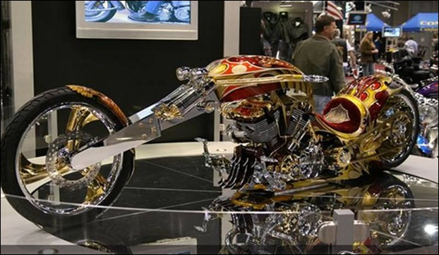 Gold-plated custom chopper