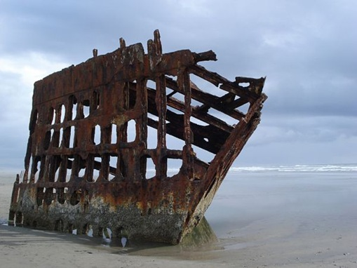 The Peter Iredale, Clatsop Spit, Oregon, United States