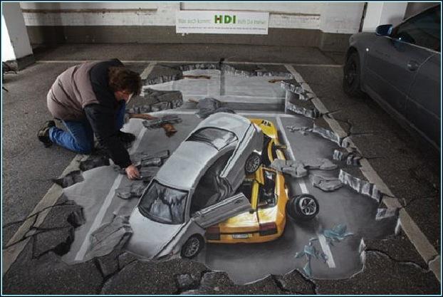 Street Art 3D cars 04