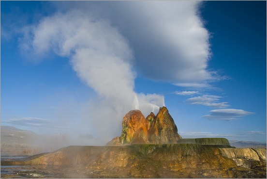 Fly Geyser in Black Rock Desert 06
