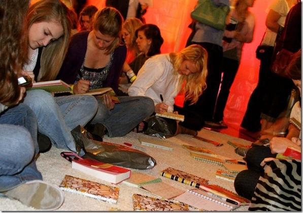girls journaling