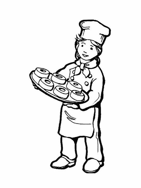 Dibujos de panaderos para pintar - Dibujos originales para pintar ...