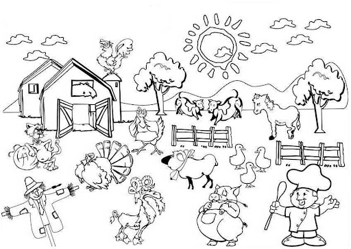 comunidad rural Colouring Pages