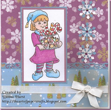 Girl Elf card