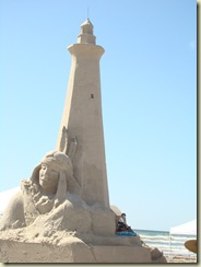 Light House And Indiana Sculptuer Mustang Island