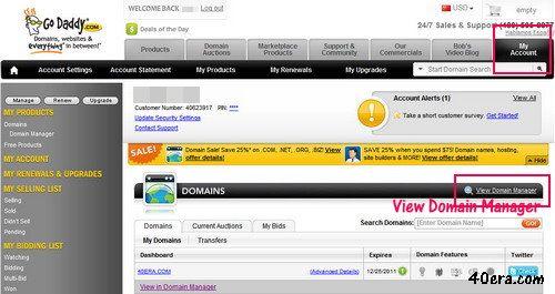 godaddy.com,域名DNS設定