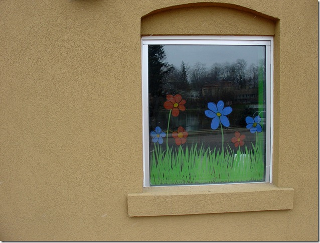 The window at The Clay Cafe