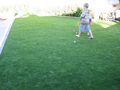 synthetic grass playground
