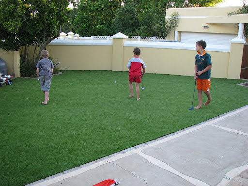 synthetic grass play