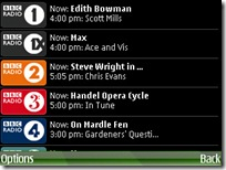 BBC iPlayer mobile application radio screenshot