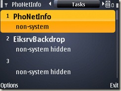 Screenshot of Phonetinfo on E71