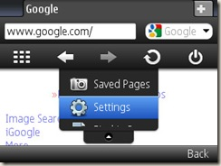 Opera Mini 5.0 running on e71