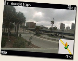 Google Maps street view Screenshot from Nokia E71 or Nokia E71x