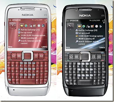 The red and black versions of E71