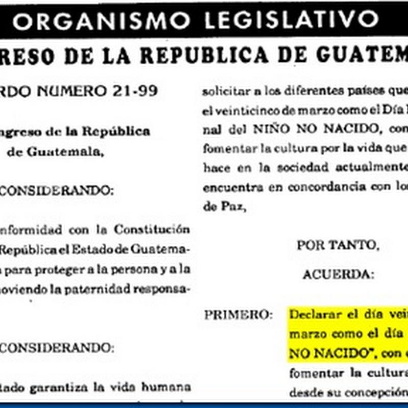 Día Nacional del Niño No Nacido (en Guatemala)