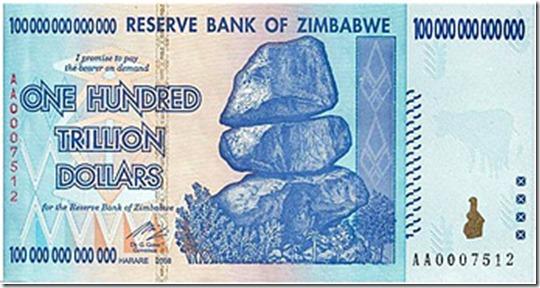zimbabwe billete
