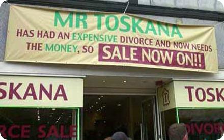 divorce sale