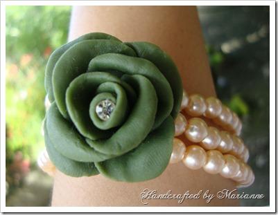 Green Rose Bracelet 2