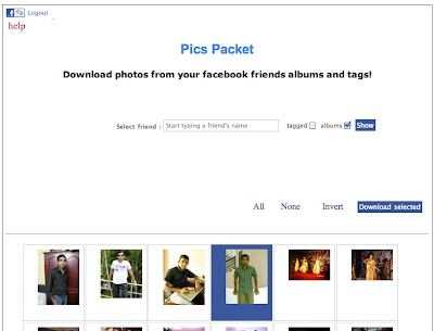 Facebook app - pics packet