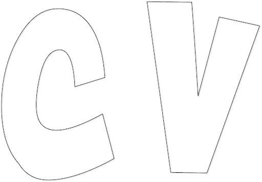 Moldes de abecedario grandes para imprimir - Imagui