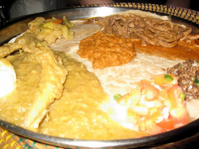 Ethiopian food at Lalibela restaurant in Dakar